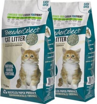 At Bunny Wonderland, we use Breeder Celect recycled paper litter because it is excellent in odor control. Most paper-based litter are OK for rabbits.