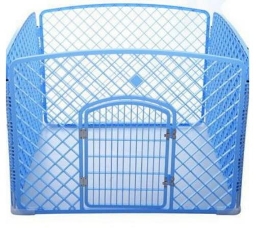 4-piece plastic playpen for 1 rabbit (measures 1m x 1m)